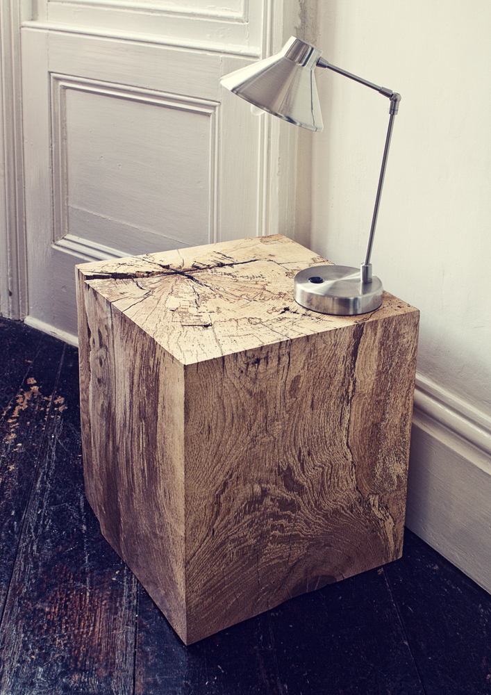 Spalted Beech Block Sidetable | Alex Brooks Furniture | Organically Inspired Wood Furniture Dorset